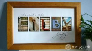 Custom designed letter art print