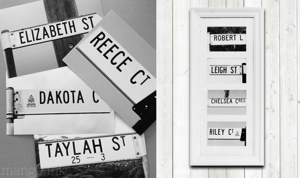 Street signs streetopia by mango ink