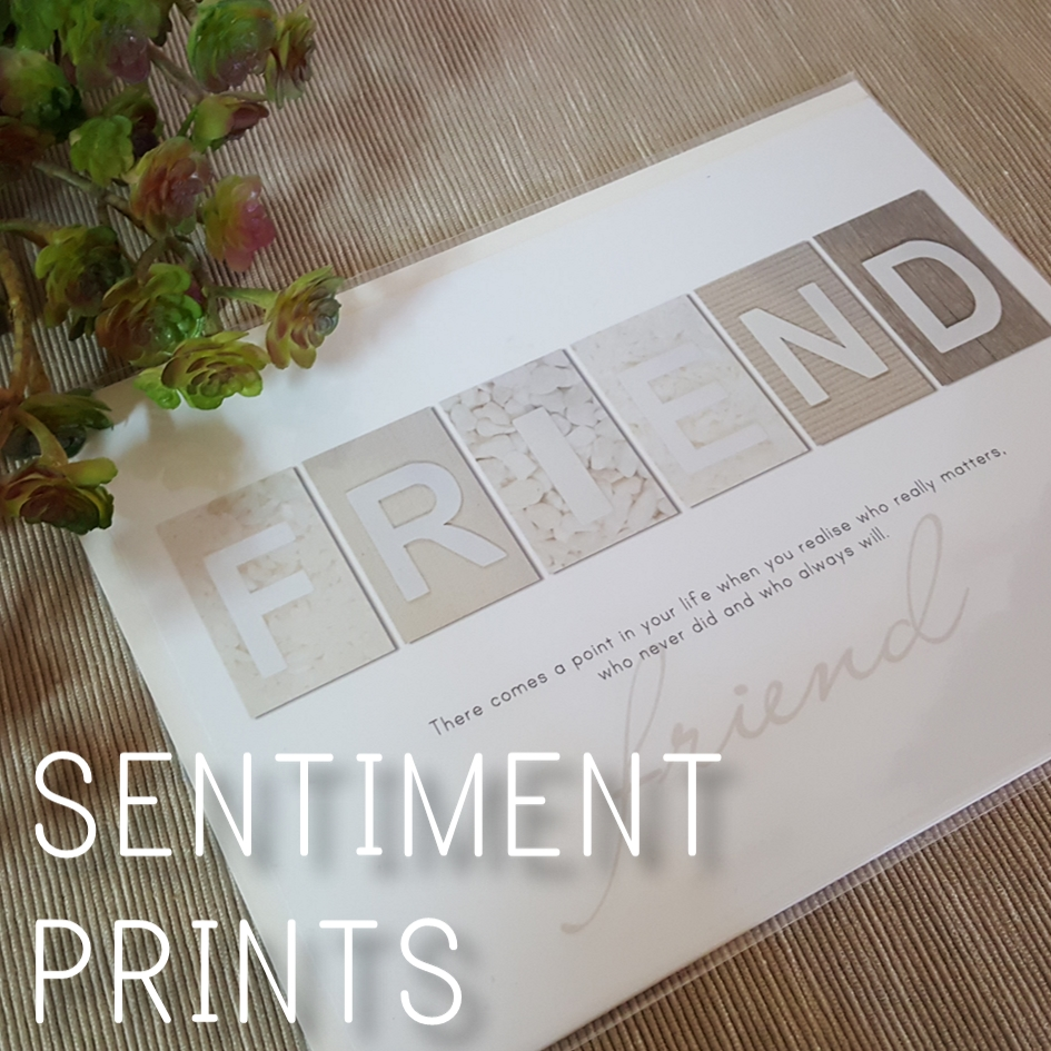 White Earth Sentiment Prints