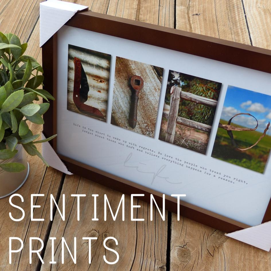 Rustic Sentiment Prints